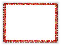 Quadro e beira da fita com a bandeira de Montenegro ilustração 3D Fotografia de Stock Royalty Free