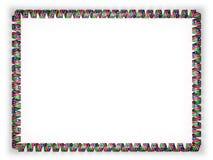 Quadro e beira da fita com a bandeira de Namíbia ilustração 3D Fotos de Stock