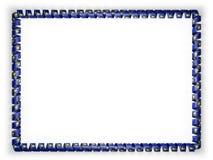 Quadro e beira da fita com a bandeira de Oregon do estado, EUA ilustração 3D Fotografia de Stock Royalty Free