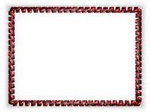 Quadro e beira da fita com a bandeira de Papuásia-Nova Guiné ilustração 3D Fotos de Stock