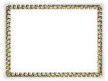 Quadro e beira da fita com a bandeira de República Centro-Africana ilustração 3D Fotografia de Stock Royalty Free