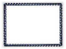 Quadro e beira da fita com a bandeira de South Carolina do estado, EUA, afiando da corda dourada ilustração 3D Fotografia de Stock Royalty Free