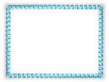 Quadro e beira da fita com a bandeira de St Lucia ilustração 3D Foto de Stock Royalty Free
