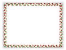 Quadro e beira da fita com a bandeira de Tajiquistão ilustração 3D Foto de Stock Royalty Free