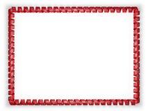 Quadro e beira da fita com a bandeira de Tennessee do estado, EUA ilustração 3D Imagens de Stock Royalty Free