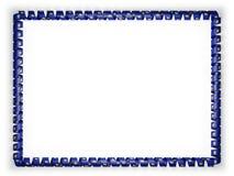 Quadro e beira da fita com a bandeira de Vermont do estado, EUA ilustração 3D Imagens de Stock Royalty Free