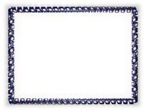 Quadro e beira da fita com a bandeira de Virgínia do estado, EUA, afiando da corda dourada ilustração 3D Foto de Stock Royalty Free