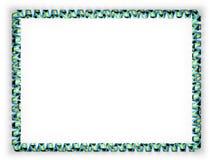 Quadro e beira da fita com a bandeira do Bahamas ilustração 3D Fotografia de Stock Royalty Free