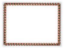 Quadro e beira da fita com a bandeira do Suriname, afiando da corda dourada ilustração 3D Foto de Stock Royalty Free