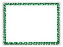 Quadro e beira da fita com o estado Washingtonflag, EUA ilustração 3D Fotografia de Stock Royalty Free