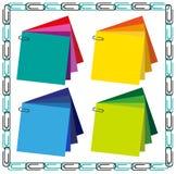 Quadro e clipes de papel Fotografia de Stock