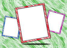 Quadro e espaço branco Imagens de Stock Royalty Free