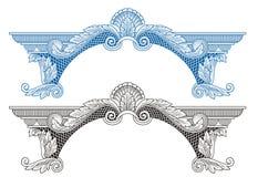 Quadro e ornamento reais do vintage ilustração royalty free