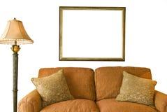 Quadro e sofá vazios Imagens de Stock Royalty Free