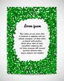 quadro elegante da folha verde Imagem de Stock Royalty Free