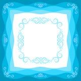 Quadro em tons azuis Imagem de Stock
