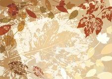 Quadro escuro do estilo retro do fundo do vetor do outono ilustração do vetor