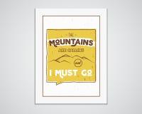 Quadro exterior da inspiração A4 Molde das citações do cartaz da montanha da motivação Inseto do explorador do inverno ou do verã Foto de Stock