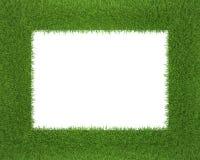 Quadro feito da grama isolada no fundo branco Imagem de Stock Royalty Free