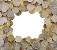 Quadro feito das moedas Imagem de Stock Royalty Free