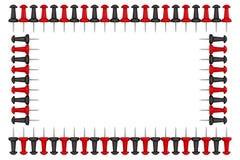 Quadro feito de botões dos artigos de papelaria Fotos de Stock Royalty Free