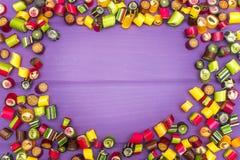 Quadro feito de doces do caramelo Fotos de Stock Royalty Free