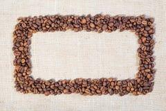 Quadro feito de feijões de café Fotografia de Stock Royalty Free