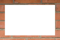 Quadro feito de uma parede de tijolo vermelho Imagens de Stock Royalty Free