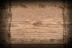 Quadro feito do arame farpado Imagem de Stock