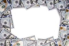 Quadro feito do dinheiro Fotografia de Stock Royalty Free