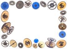 Quadro feito dos gearweels Imagem de Stock Royalty Free