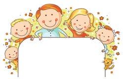 Quadro feliz da família Fotografia de Stock