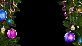Quadro festivo do Natal com a máscara alfa para criar uma atmosfera fabulosa e mágica looped ilustração do vetor