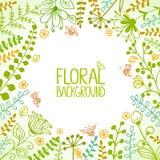 Quadro floral Fotos de Stock