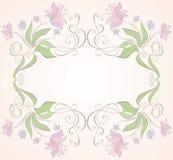 Quadro floral Imagens de Stock