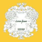 Quadro floral bonito com flores ilustração do vetor