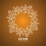 Quadro floral com espaço da cópia para o texto - ícone do vetor do conceito Fotos de Stock Royalty Free