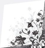Quadro floral com flores Ilustração do vetor ilustração stock