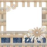 Quadro floral com luz das flores brancas Fotos de Stock Royalty Free