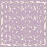 Quadro floral cor-de-rosa do teste padrão Foto de Stock