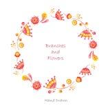 Quadro floral da aquarela Ilustração do Vetor