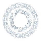 Quadro floral da beira e do círculo Foto de Stock