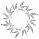 Quadro floral da beira e do círculo Fotografia de Stock Royalty Free
