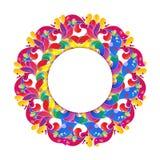Quadro floral do círculo do vetor Elemento do projeto moderno Fotografia de Stock Royalty Free