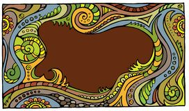 Quadro floral do conto de fadas do vetor da fantasia Ilustração do Vetor