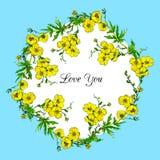 Quadro floral do vetor da aquarela Fotografia de Stock Royalty Free