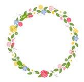 Quadro floral para o cartão do casamento e de aniversário. Vetor Fotos de Stock Royalty Free