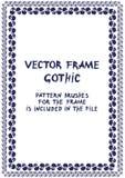 Quadro gótico com crânio Vetor ilustração royalty free