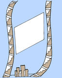 Quadro geométrico com linhas pintadas Fotos de Stock Royalty Free