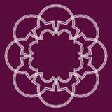 Quadro geométrico do Arabesque Fotos de Stock Royalty Free